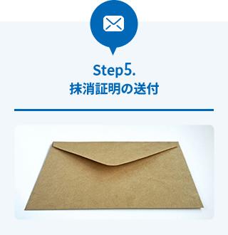 Step5.抹消証明の送付